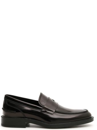 Tod's Brushed Leather Moccasins