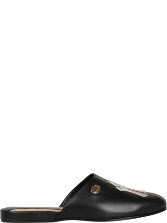 Gucci Ny Yankees Leather Slides
