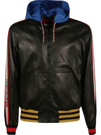Gucci Logo Stripe Hooded Jacket