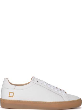 D.A.T.E. Newman Calf White Leather Sneaker