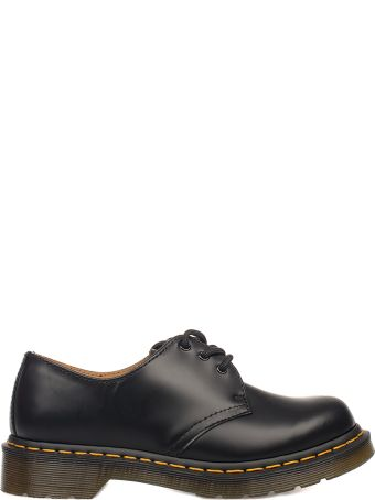 Dr. Martens Black Smooth Brushed Leather Derby