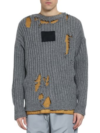 A-COLD-WALL Distressed Slate Wool Sweater