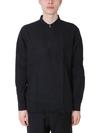 Our Legacy Shawl Zip Black Line And Cotton Shirt