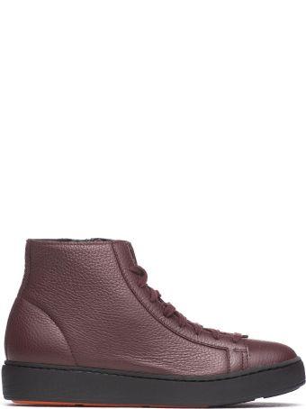 Santoni Leather Sneakers