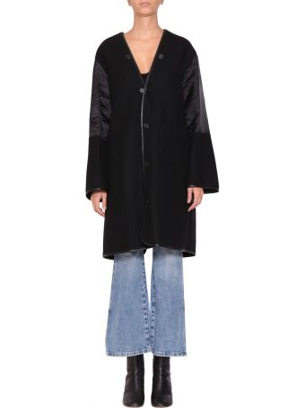 Maison Margiela Wool And Satin Coat