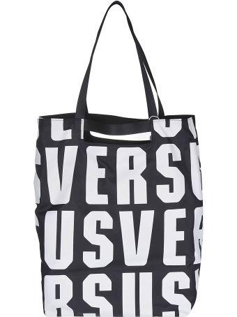 Versus Versace Logo Print Tote