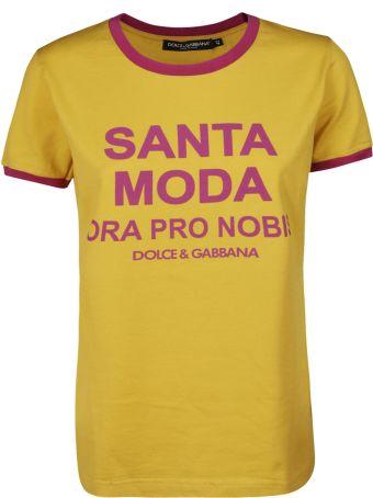 Dolce & Gabbana Santa Moda Print T-shirt