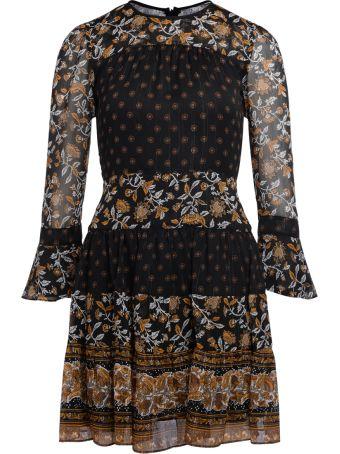 Michael Kors Floral Print Georgette Dress