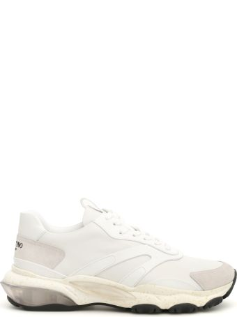 Valentino Leather Bounce Sneakers
