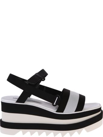 Stella McCartney Black And White Elyse Sandals