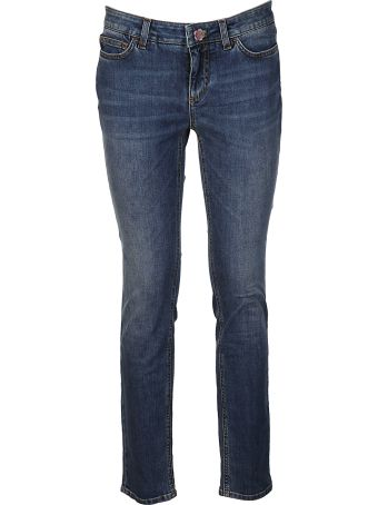 Dolce & Gabbana Skinny Floral Button Jeans
