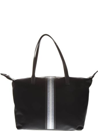 Hogan Black Nylon Shopper Bag