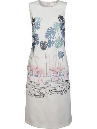 Victoria Beckham Printed Swan Dress
