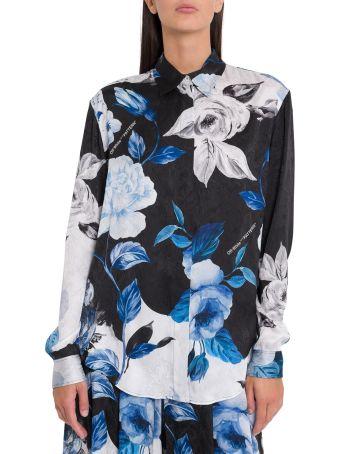 Off-White Camicia Stampa Floral Allover
