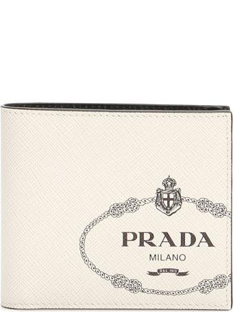 Prada Bicolor Saffiano Wallet