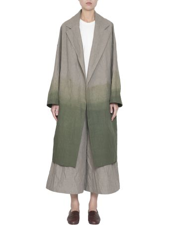 Dusan Tie-dye Cotton And Linen Coat