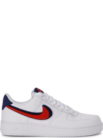 Nike Air Force 1 '07 Lv8 White, Red And Blue Leather Sneaker