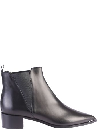 Acne Studios Black Pointed Ankle Boots