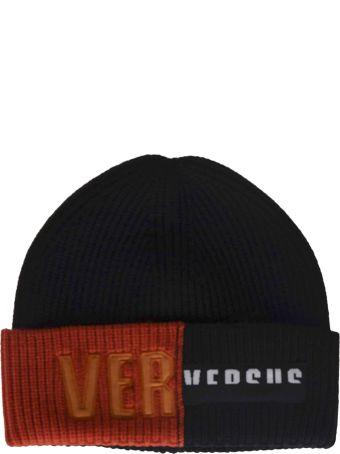 Versus Versace Logo Patch Beanie