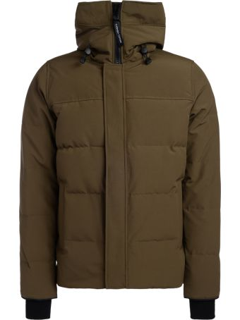 Canada Goose Macmillian Hunter Green Jacket With Hood
