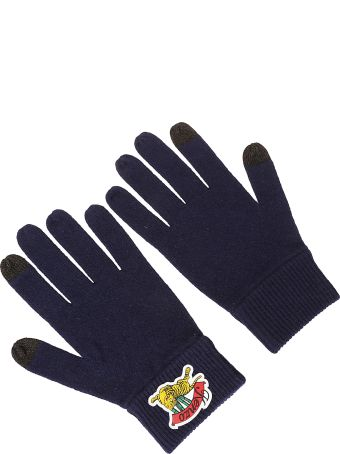 Kenzo Logo Patch Gloves