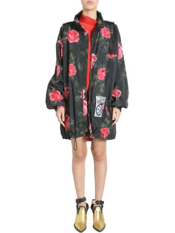 Rose Printed Parka