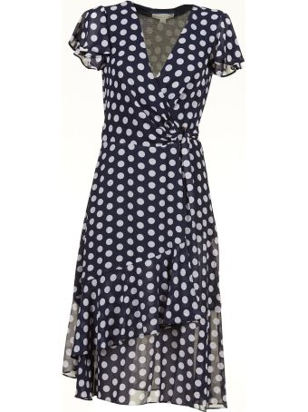 Michael Michael Kors Polka Dot Wrap-style Dress