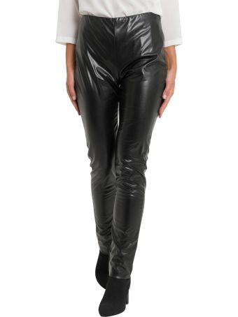 M Missoni Leather Effect Skinny Trousers