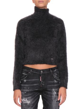 Dsquared2 Mohair Blend Cropped Turtleneck
