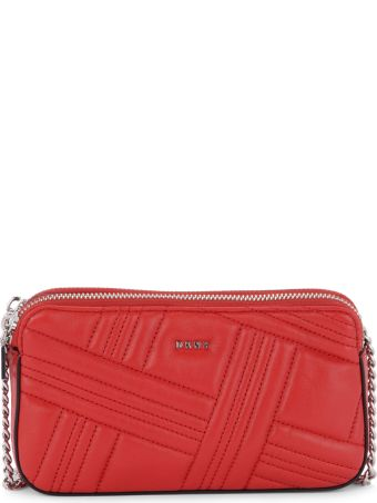 DKNY Allien Red Quilted Leather Pochette