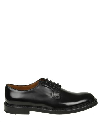 Doucal's Derby Leather Brushed Black