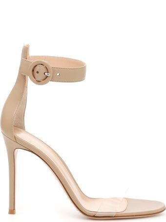 Stella Leather And Plexi Sandals