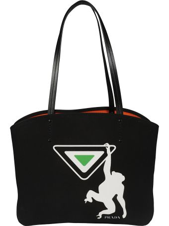 Prada Monkey Print Shopper Bag