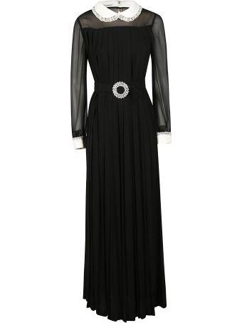 Miu Miu Sable And Georgette Dress