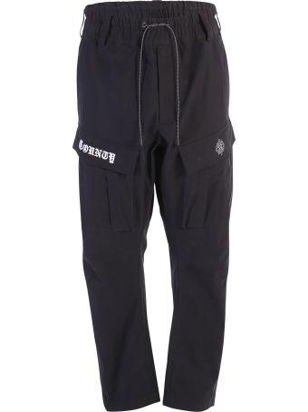 Marcelo Burlon Black Cargo Trousers