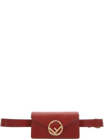 Fendi Red Fendi Versatile Pouch In Leather