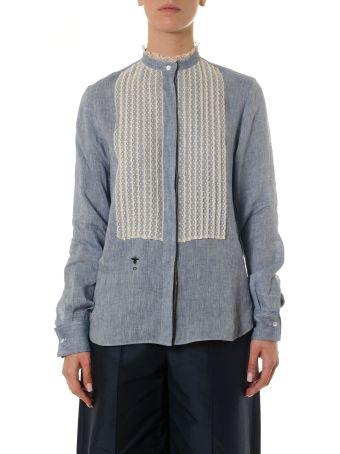 Dior Cotton Denim & Lace Shirt