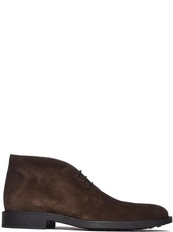 Tod's Desert Boot In Brown Suede