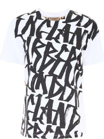 Logo And Check T-shirt