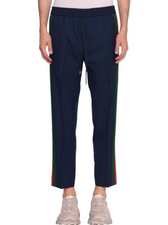 Gucci Wool Web Trousers