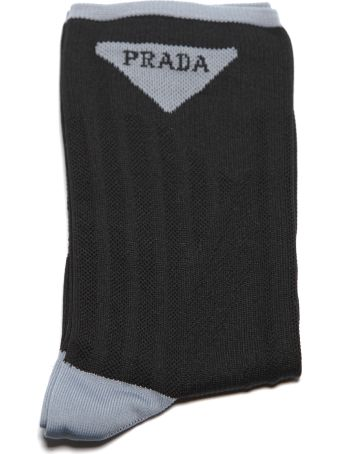 Prada Embroidered Nylon Socks