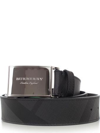 Burberry Logo Plaque London Belt