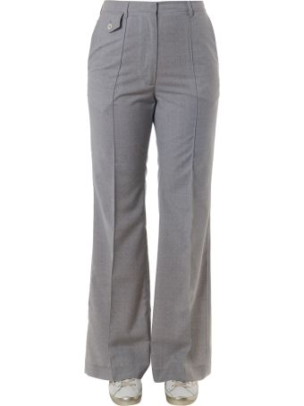Golden Goose Light Grey Cotton Trousers
