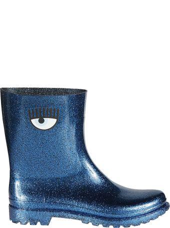 Chiara Ferragni Eye Print Glittered Boots