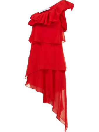 Givenchy Ruffled One Shoulder Dress