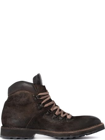 Moma Crosta Old Dark Brown Leather Ankle Boots