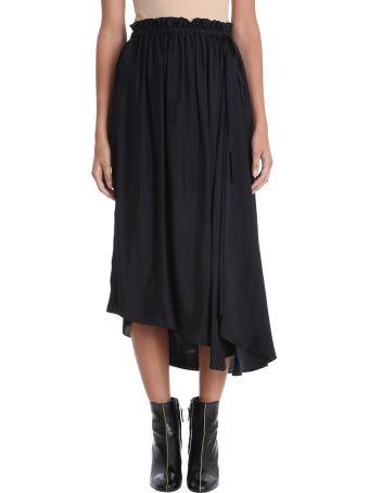 Kenzo Black Viscose Skirt