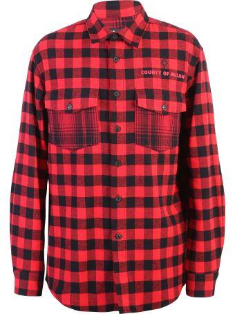 Marcelo Burlon Red Check Motif Shirt