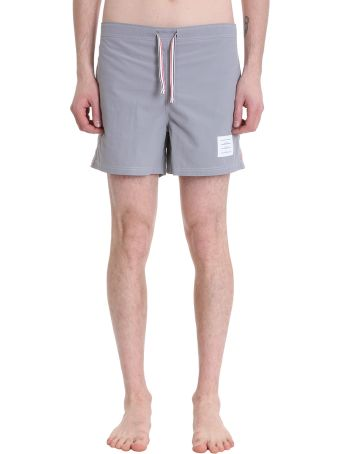 Thom Browne Grey Nylon Swimwear