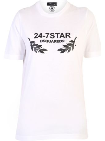 Dsquared2 White Branded T-shirt